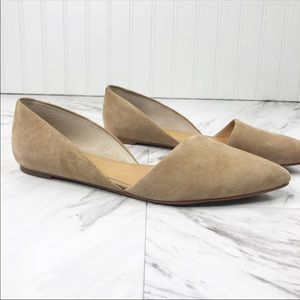 J. Crew D'Orsay Flats size 9 Nude Suede